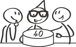 40 Geburtstag Gleitsichtbrille