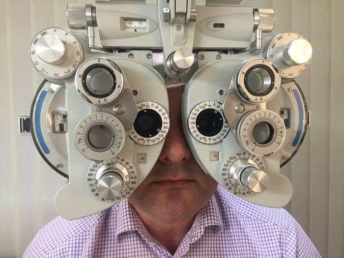 Einstärkenbrille Refraktion