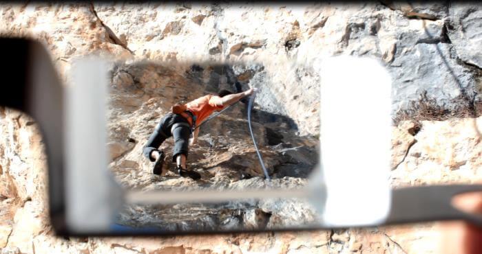 Prismenbrille Klettern Reflexion